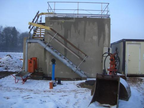 Technikgebäude im Bau